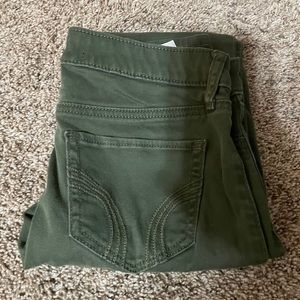 Hollister Green Skinny Jeans